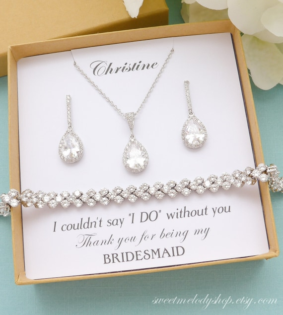 3 Gifts TINY HEARTS Micro Pave Cz White Gold Necklace /& Earrings Sets Bridesmaid Jewelry Minimalist 10/% Discount BRIDESMAID Set 328GIFT3