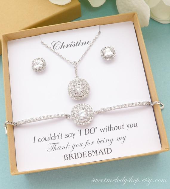 Cameo Bridesmaid Jewelry Four Bridesmaid Jewelry Gifts Set of 4 Bridesmaid Jewelry Rose Gold Bridesmaid Jewelry Blush Bridesmaid Jewelry