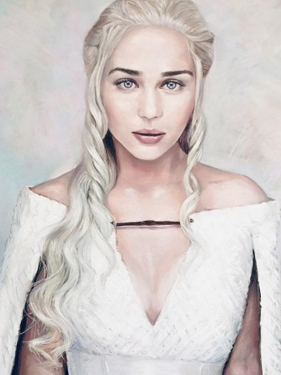 KHALEESI Daenerys Targaryen POSTERS  *Set of 3* Game Of Thrones Wall Art Print
