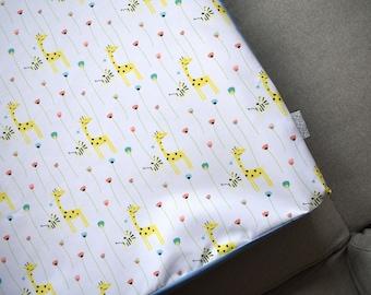 Waterproof baby change pad cover | Changing Pad Cover | Wipeable changing pad cover | Giraffe, Zebra and Flower nursery pad cover waterproof