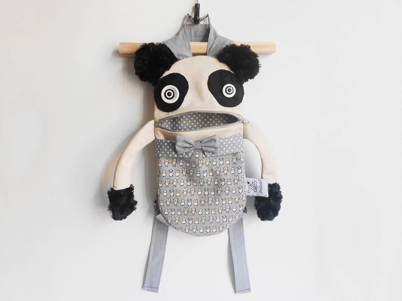 e9beea4ce0cc Panda toddler backpack Backpack panda face Zacola kids bag