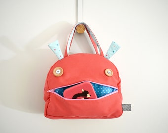 Insulated lunch bag | toddler gift | Zé Snack glutton: snack bag kids | lunch box for kids | zippered monster insulated bag