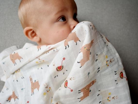 Personnalisé mousseline Chiffon Burp carré brodé bébé nom nouveau Cadeau Garçon Fille