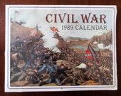 CIVIL WAR PRINTS Vintage Art 1989 Calendar Sealed Longmaster Press Frameable Battle Scenes