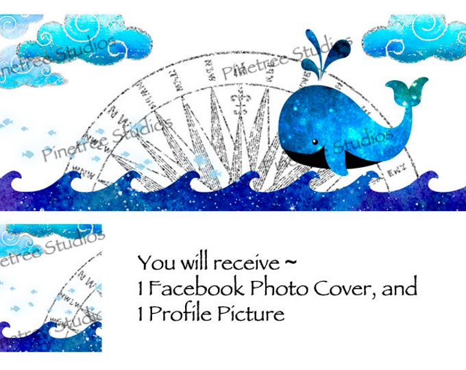 Whale   ~ Facebook Blank Cover Photo and Profile Picture
