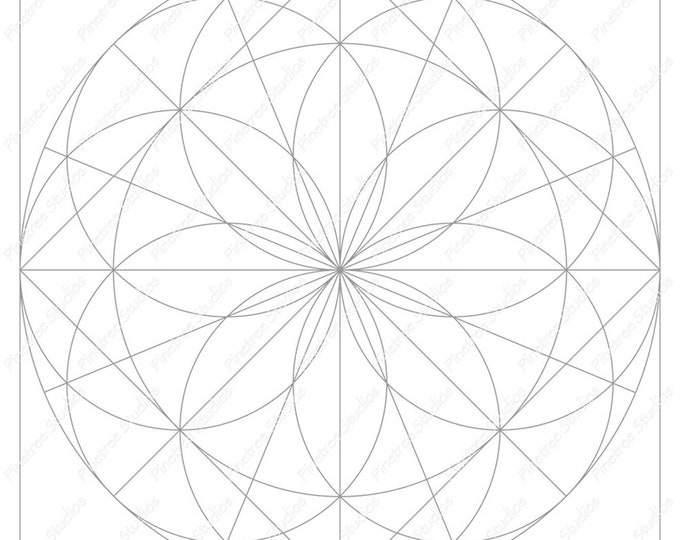 Mandala 1 Template / Digital Download ~ Printable ~  iPad Pro / Procreate / Apple Pencil / Tangle Art Worksheet / Zendala