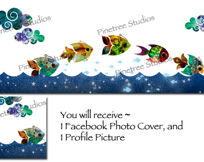 Collage Fish   ~ Facebook Blank Cover Photo and Profile Picture