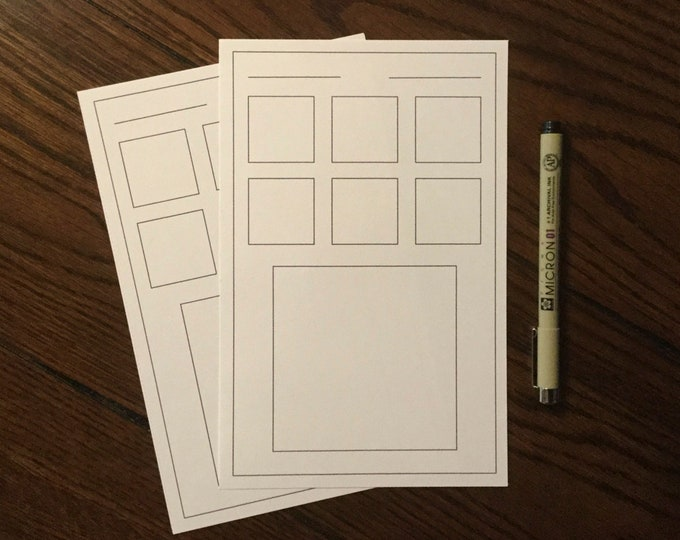 "Pattern Step Out (5""x8"") ~ Digital Download Sheet ~ Zentangles / Printable / iPad Pro / Procreate / Tangle Art Worksheet"