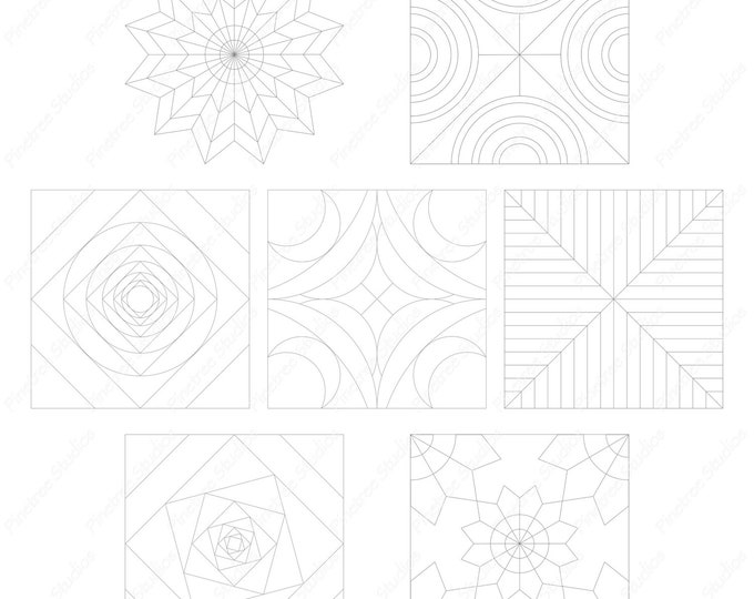 Procreate 7 Mandala Template Brush/Stamps Set 2 (.brushset) Designed for iPad and Procreate / Digital Download / Autodesk SketchBook