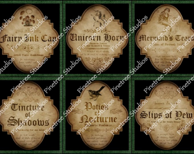 Apothecary Labels ~ Sublimation Artwork for Mugs / Digital Download Only
