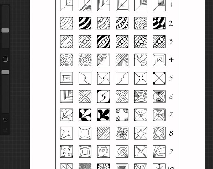 Square Fragment Charts and Worksheets Designed for iPad and Procreate / Digital Download / Reticula and Fragments