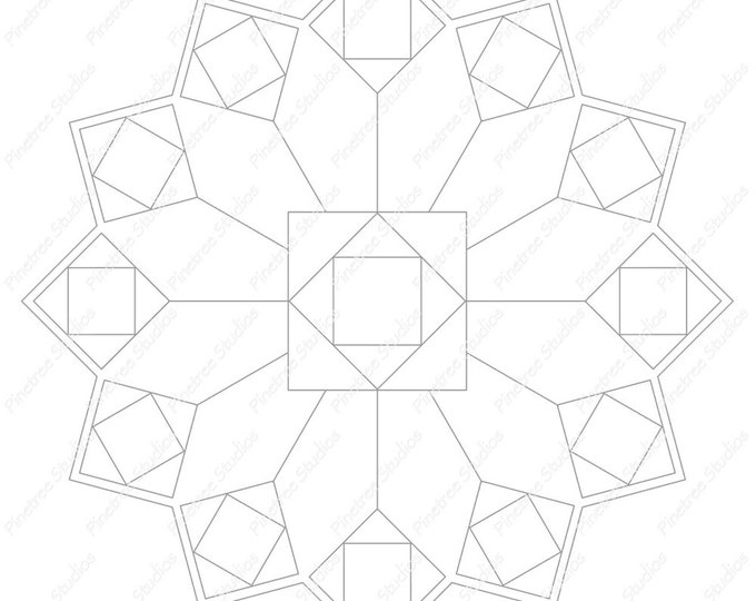 Squares Mandala Template / Digital Download ~ Printable ~  iPad Pro / Procreate / Apple Pencil / Tangle Art Worksheet / Zendala