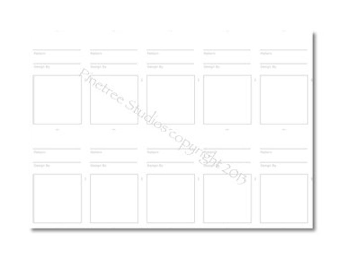Pattern Step-Out Cards (Business Card Size) - Digital PDF Download ~