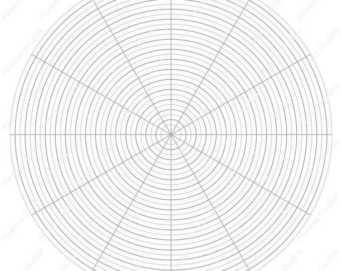 Circle Grid for Drawing Flowers, Mandalas and More / Digital Download ~ Create Ovals / iPad Pro / Procreate / Tangle Art Worksheet