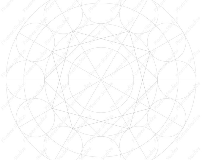 Mandala 2 Template / Digital Download ~ Printable ~  iPad Pro / Procreate / Apple Pencil / Tangle Art Worksheet / Zendala