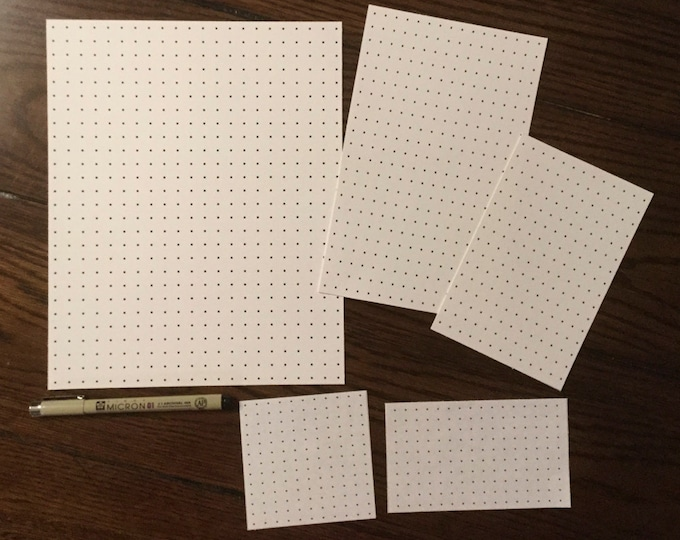 Grids for Drawing Patterns & More ~ 5 Different Sizes ~ Digital Download ~ Zentangle / Tangles / W2 / Huggins / Pickpocket / Games Too!