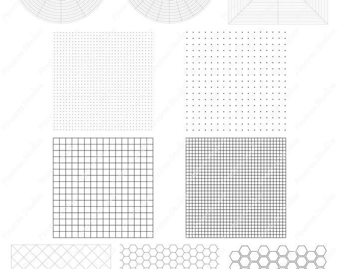 Procreate 10 Grid Template Brush/Stamps (.brushset) Designed for iPad and Procreate / Digital Download / Autodesk SketchBook