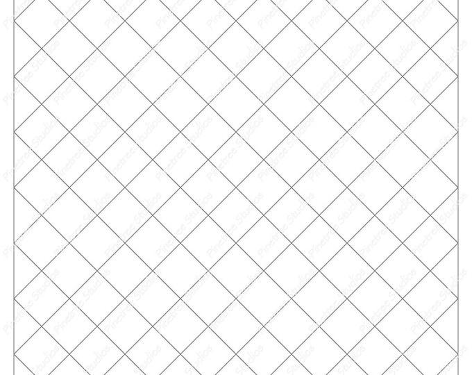 Diamond Tufts Grid for Drawing Frames, Mandalas and More / Digital Download ~ Create Borders / iPad Pro / Procreate / Tangle Art Worksheet