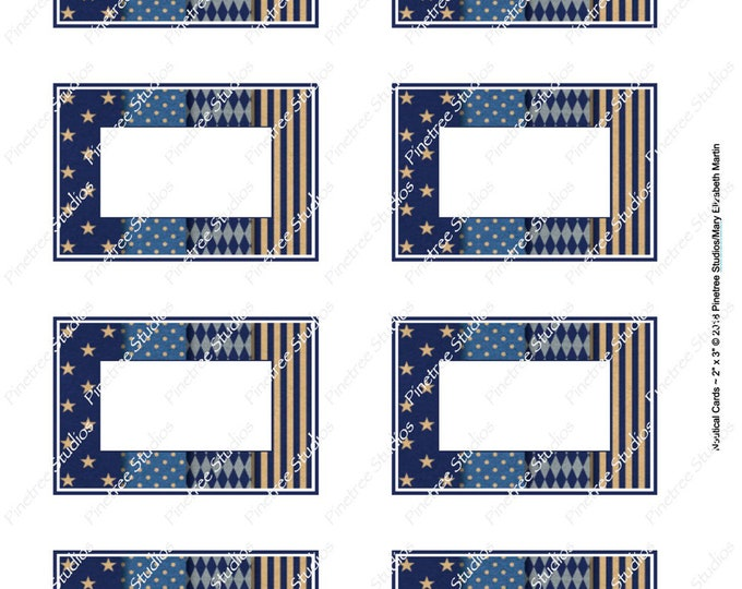 """Nautical Card (2""""x 3"""") ~ Digital Download ~ Printable / Label / Gift Tag / Place Card / Name Tag / Bookplates / ATC Cards"""