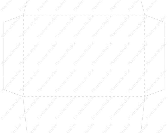 """Envelope Template for Postcards and Designer Folding Cards (4"""" x 6"""" Folded Cards)  ~  Digital Download / Card Envelope"""
