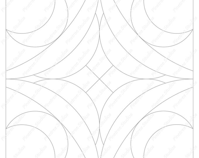 Crescent Moons Mandala Template / Digital Download ~ Printable ~  iPad Pro / Procreate / Apple Pencil / Tangle Art Worksheet / Zendala