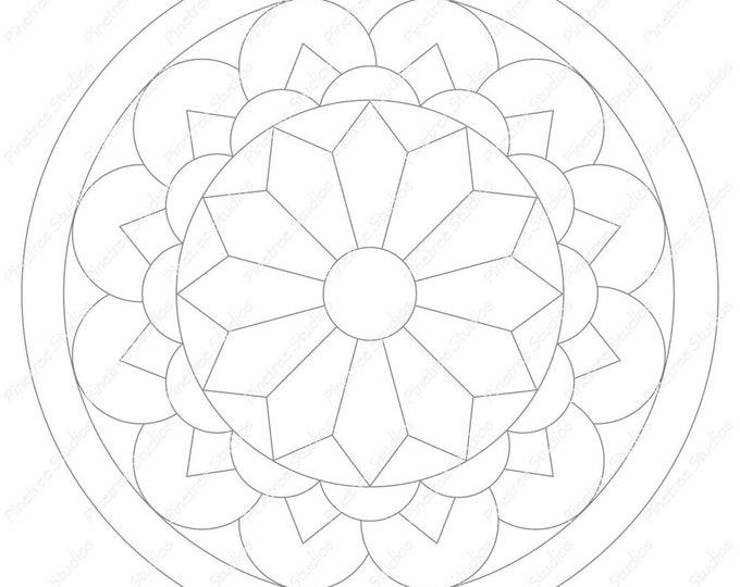 Mandala 5 Template / Digital Download ~ Printable ~  iPad Pro / Procreate / Apple Pencil / Tangle Art Worksheet / Zendala