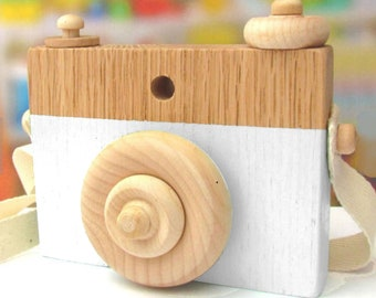 White Wooden Camera Toy