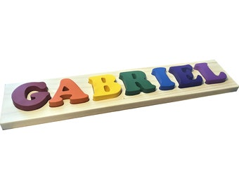 7 Letter Solid Wood Name Puzzle by MDH Toys