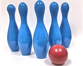 Wooden Bowling Game Wooden Toys Educational Toy Set - made in Canada