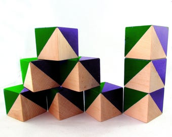Green and Blue Geo Blocks