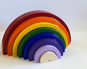 7.5 x 3.75 inch Classic Colours Rainbow Stacker