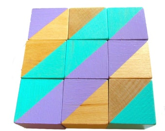Purple and Blue Geo Blocks
