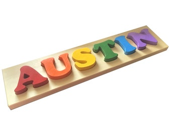 6 Letter Solid Wood Name Puzzle by MDH Toys