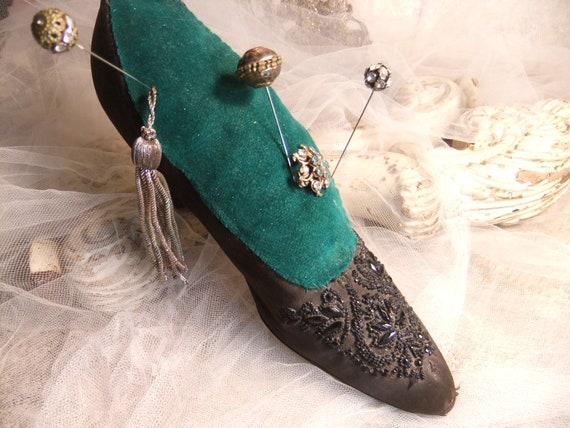 Edwardian Shoe, Vintage Pincushion, Antique 1910'… - image 5