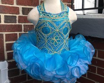 National Glitz Halter Style Pageant Dress