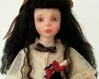 OOAK Victorian Goth Art Doll - Sad Eyes by LSAD