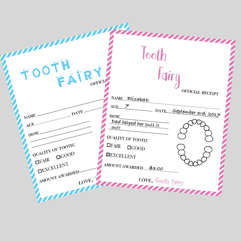 photo about Printable Tooth Fairy Receipt identify Enamel Fairy Receipt PRINTABLE - Enamel Fairy Certification - Missing Enamel - Teeth Fairy Letter for Boys or Ladies - Quick Obtain