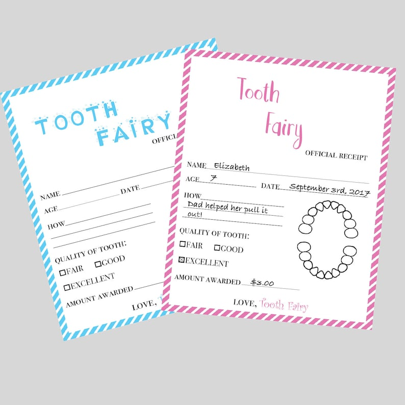 photo about Printable Tooth Fairy Receipt known as Teeth Fairy Receipt PRINTABLE - Teeth Fairy Certification - Misplaced Enamel - Enamel Fairy Letter for Boys or Gals - Quick Down load