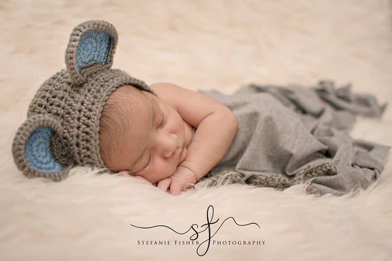 Häkeln Sie Baby Maus Set Baby Mütze Maus Hut Baby Tier Etsy