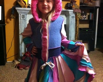 Custom Upcycled Children's Sweater Coat As Inspired by Katwise