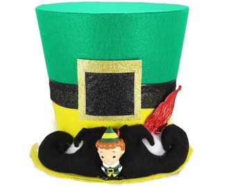 Ready to ship!! Buddy the Elf theme tree topper, Christmas tree topper, Top hat tree topper, top hat, Christmas decoration