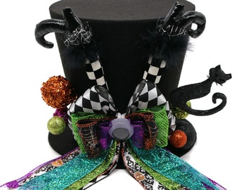 Witch Halloween decoration, Witches and goblins Halloween decoration, witches and goblins top hat, Halloween tree topper decoration