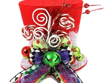 READY TO SHIP!!! Harlequin, Christmas tree topper, jester, elf, tree topper