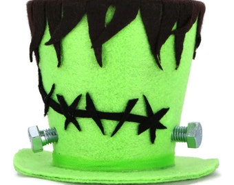 Halloween decoration, Frankenstein Halloween decoration, Frankenstein Costume top hat, Frankenstein decoration