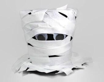 Halloween decoration, Mummy Halloween decoration, Mummy Costume top hat, Mummy decoration