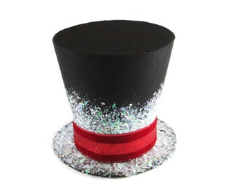 Frosty's top hat, Candy cane top hat, Christmas tree topper, Christmas table decoratio, Snowman hat
