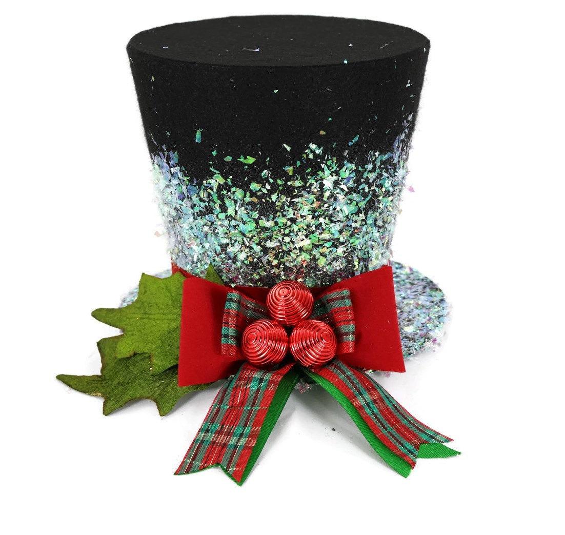 Christmas Tree Hats: Christmas Traditional Top Hat Tree Topper Christmas