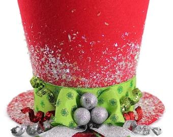 Tree Topper, Christmas tree topper, Christmas table decoration, top hat, top hat decoration