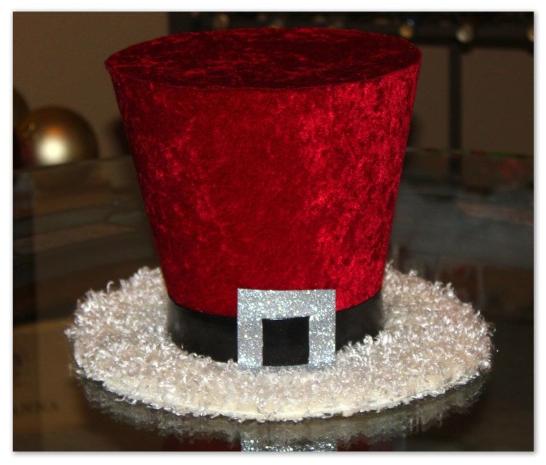 Santa Claus Top Hat Christmas Hat Candy Cane Christmas Tree Etsy