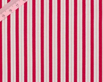 Tilda Red Stripe Fabric / Wintergarden Collection - Full Metre / 1.09 yard